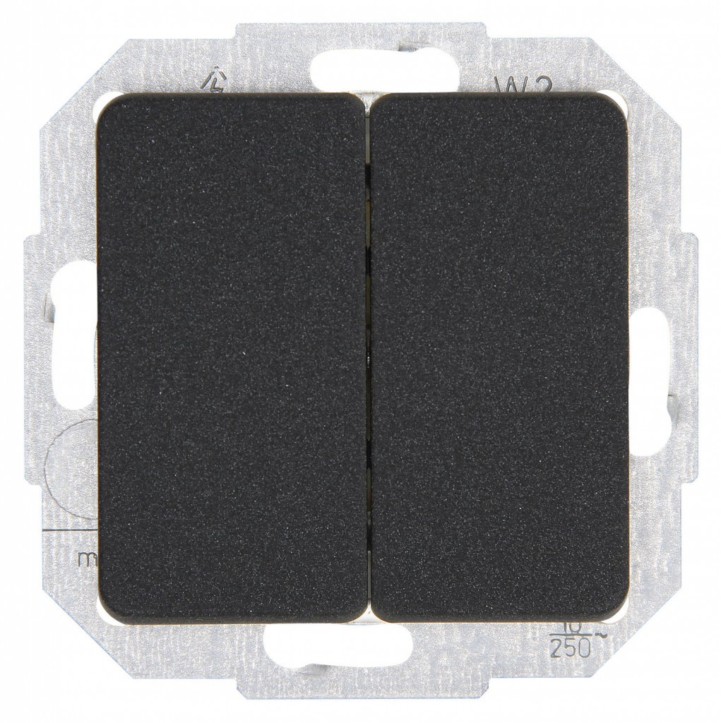 kopp milano schalter serienschalter anthrazit 618515086 ebay. Black Bedroom Furniture Sets. Home Design Ideas