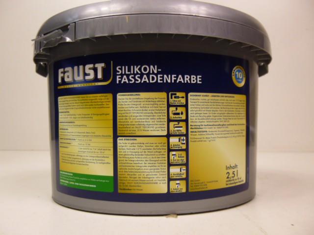 Faust farbe fassadenfarbe w matt ral 9003 signalwei 2 5 liter ebay - Faust wandfarbe ...