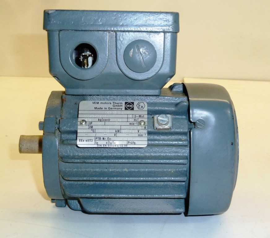 Vem Motors Thurm Drehstrommotor Kper 63 G4 Eex E Ii