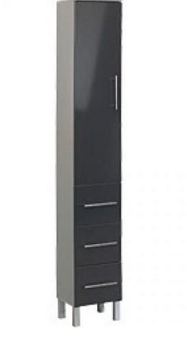 siena hochschrank hochglanz anthrazit badezimmerschrank. Black Bedroom Furniture Sets. Home Design Ideas